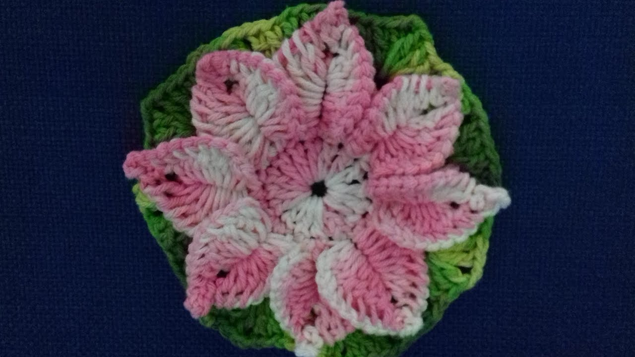 Flores De Crochê Passo A Passo Com Grafico Com Cristina Coelho Alves