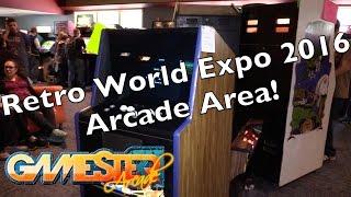 Retro World Expo 2016 arcade section walkthrough - Gamester81Arcade
