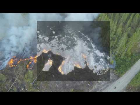 Forest fire, fusion of thermal and RGB camera