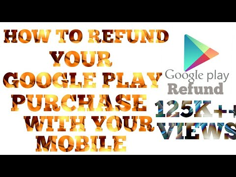 HOW TO #REFUND# YOUR GOOGLE PLAY PURCHASE  GOOGLE PLAY PURCHASE # REFUND# LE VO BHI APNE MOBILE SE