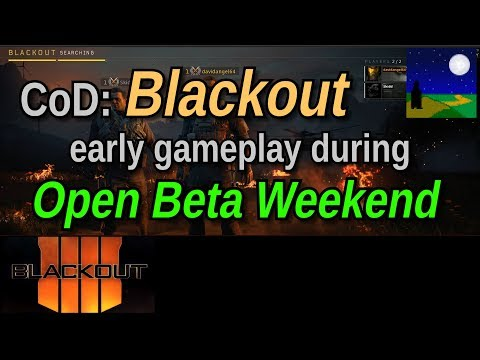 Call of Duty Blackout Gameplay - Open Beta Weekend