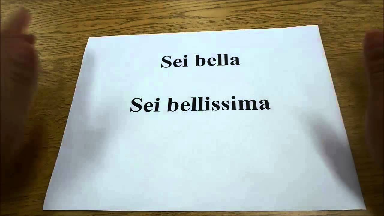 How To Say You Are Beautiful In Italian Language Lesson Youtube
