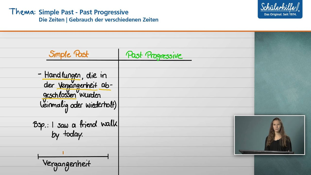 Past Progressive Tandemubung Unterrichtsmaterial
