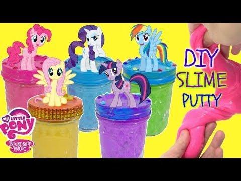 D.I.Y. MY LITTLE PONY MLP Pinkie Pie & RARITY SLIME RECIPE