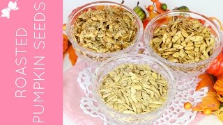 Flavored Roasted Pumpkin Seeds (Sweet Pumpkin Pie Spice, Savory Garlic Parmesan & Spicy Flamin