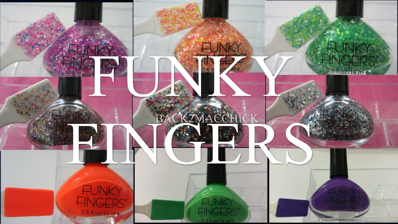 HAUL W/ SWATCHES: FUNKY FINGERS NAIL POLISH COLLECTION - YouTube