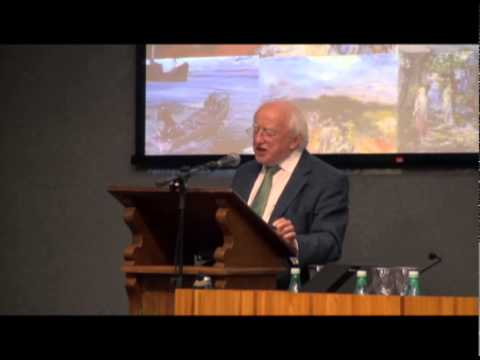 President Higgins at the University of Sao Paulo, Brazil. Irish Studies Event