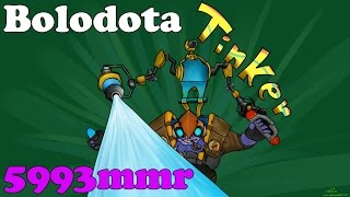 Dota 2 - Bolo top 1 mmr BR (5993 mmr) plays Tinker - Ranked Match!