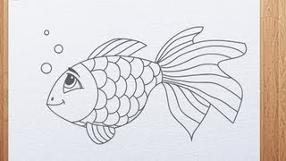 How to draw a fish | a koi fish chibi style