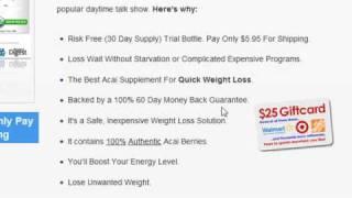 Acai Berry Weight Loss - Acai Dietary Supplement