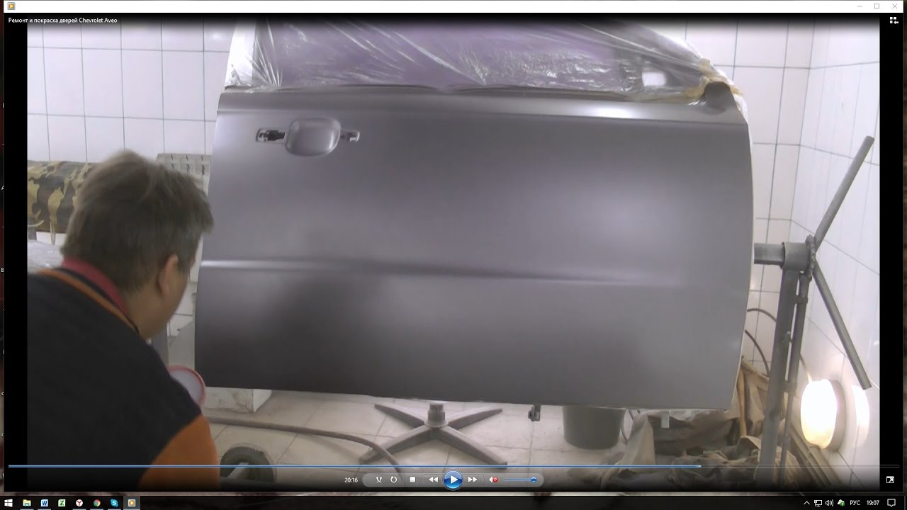 Ремонт и покраска дверей Chevrolet Aveo.