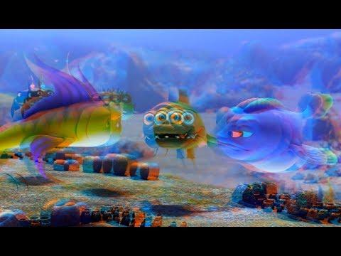 РИФ 3D Мультфильм Смотреть в Красно-Голубых анаглифических очках