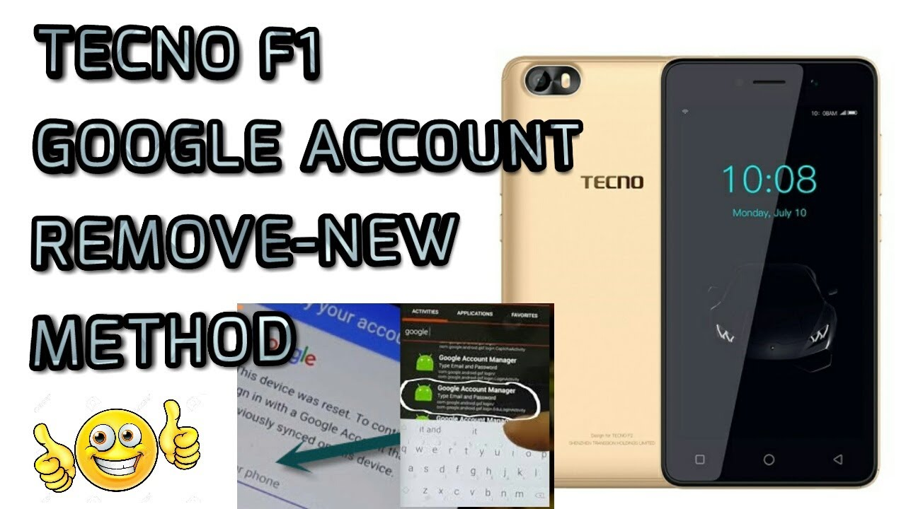 TECNO F1 GOOGLE ACCOUNT REMOVE ANDROID 8 1 NEW METHOD