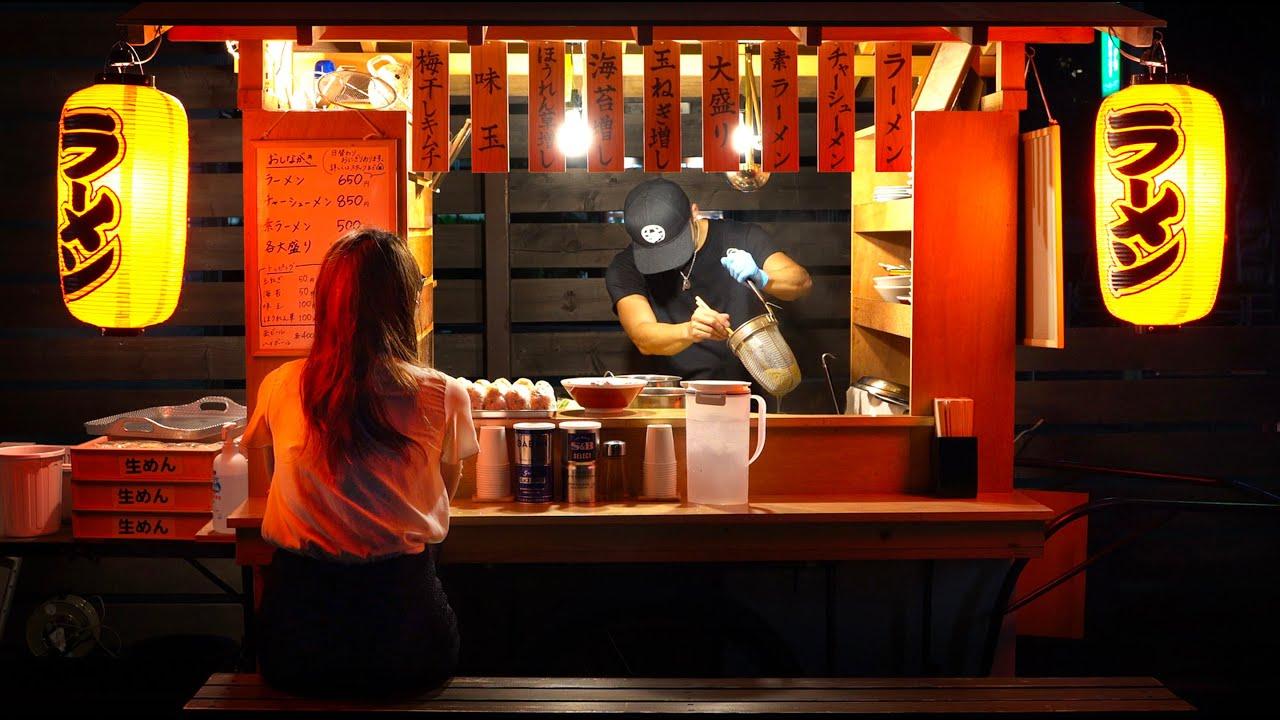 ラーメン屋台 - Ramen Japanese street food - Old style ramen stall 屋台ラーメン 라면 拉面 拉麵 - Tokyo