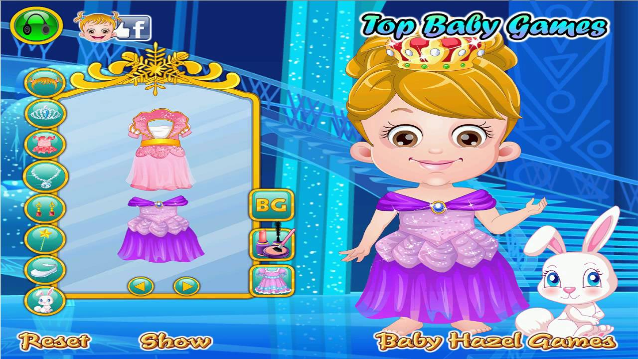 Baby Hazel Ice Princess Dressup 3D Baby Hazel TV Program for Kids ...