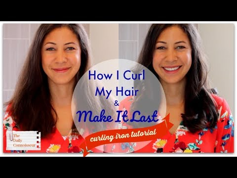 How I Curl My Hair & Make It Last |Curling Iron Tutorial