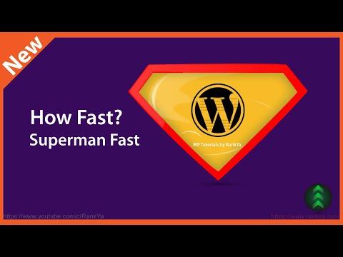 How to Speed Up WordPress Site - 동영상