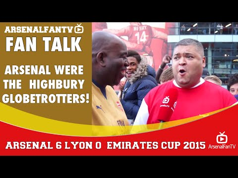 Arsenal were the Highbury Globetrotters!  | Arsenal 6 Lyon 0 | Emirates Cup.