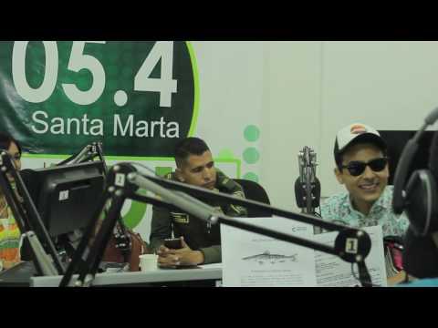 Coko Torres en Emisora Policía Nacional 105.4 Santa Marta