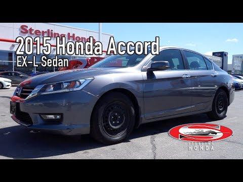 **SOLD** 2015 Honda Accord EX-L : Features & Walk-around (Sterling Honda)