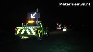 Gewonde na botsing tussen twee auto's op A37 bij Zwinderen