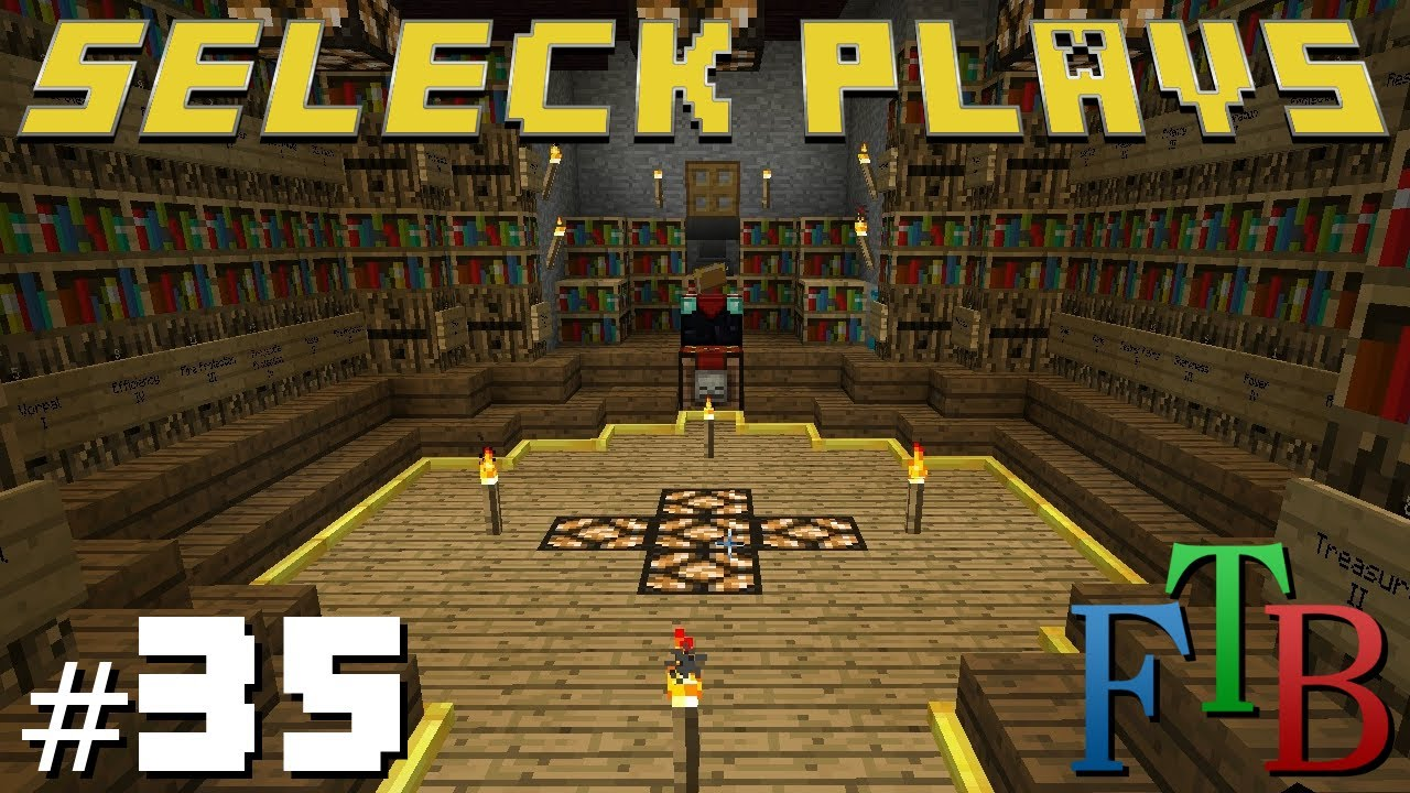 Minecraft Feed The Beast Ep 35 Enchantment Room