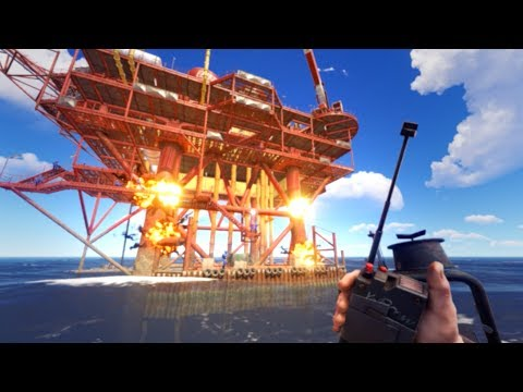 RAIDING the OIL RIG MONUMENT and RIDING the WAVES HOME! thumbnail