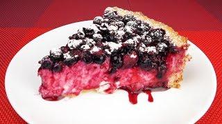 Творожный пирог  с чёрной смородиной | Cheesecake with black currant
