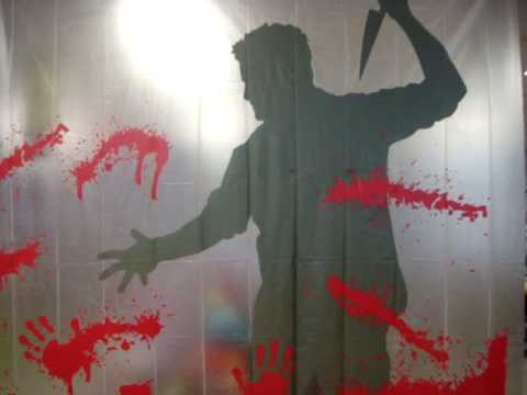 Psycho Shower Curtain With Sound