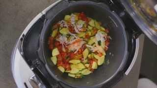 Рецепт лазаньи с мясом краба и цуккини в мультишефе BORK U800 от Кристиана Лоренцини