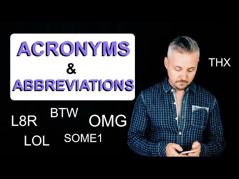 Acronyms & Abbreviations on Smartphones and the Internet