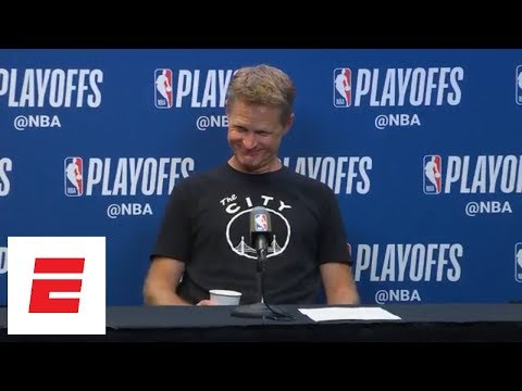 Steve Kerr on Manu Ginobili: 'I know he's old because he was my teammate and I'm old as dirt' | ESPN