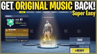 *NEW* Fortnite: How to get OG/Original Music back In-game! | (Original Win Music, Lobby, and More!)