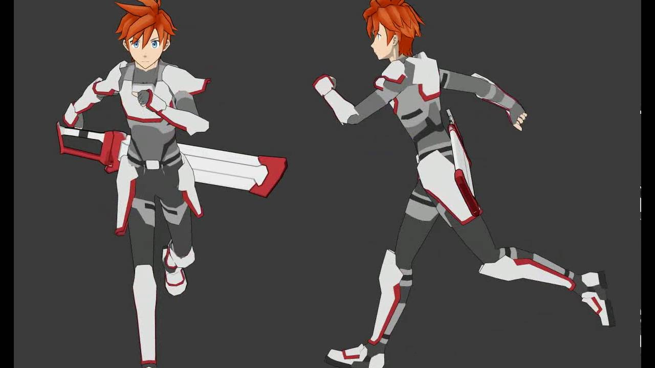 Anime Characters Running : Running cycle anime character youtube