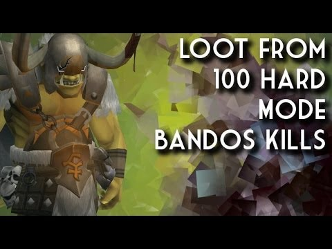 Loot From 100 Bandos Hard Mode Kills!