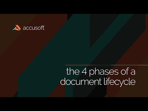Identify and Simplify the 4 Phases of a Document Lifecycle