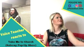 ⫷ Voice Teacher Reacts to ➠ Hozier perform Take Me To Church (Pop-Up Show in NYC Subway)⫸