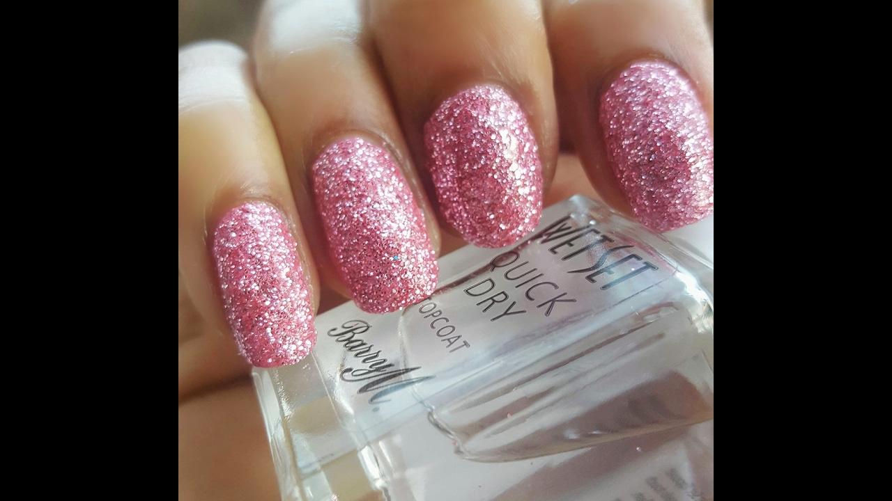 Ont Essence Pink Metallic Glitter Nail Tutorial