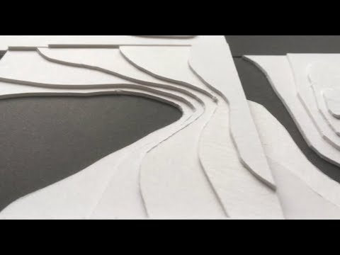 How To Make Architectural Topography Model - Foam + Museum Board