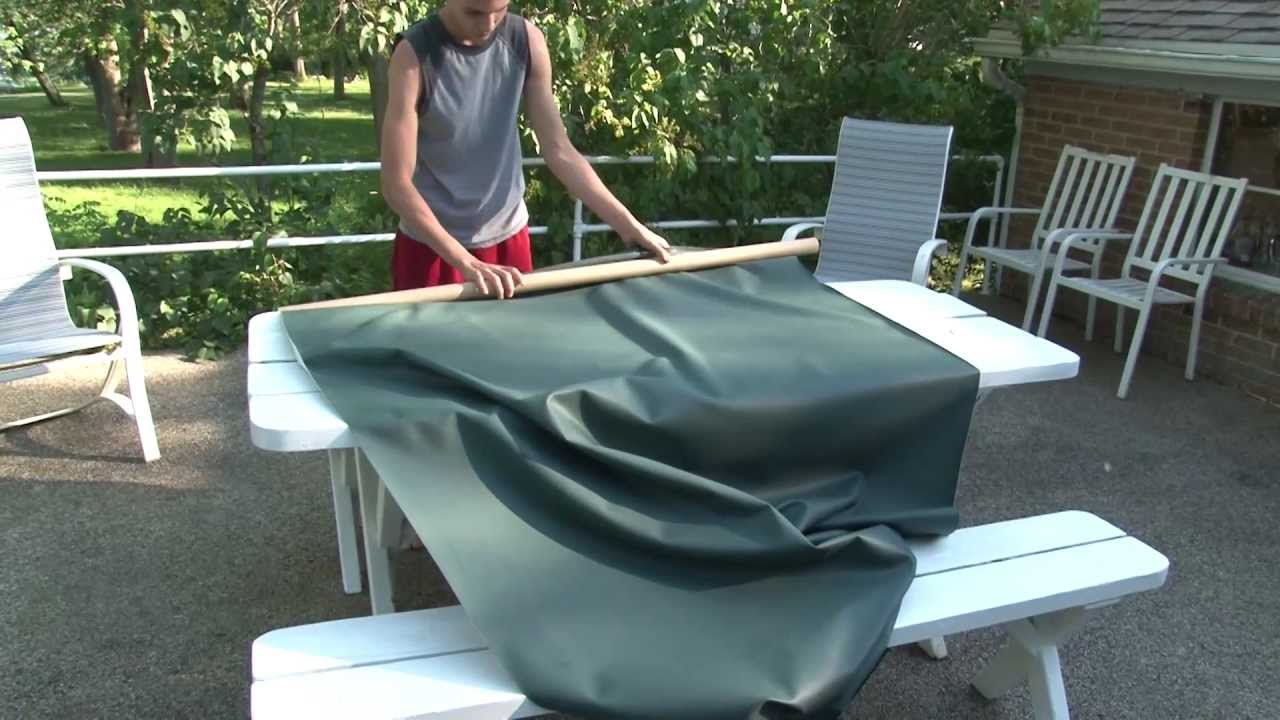 Make Your Own Outdoor Tablecloth And Placemats   YouTube