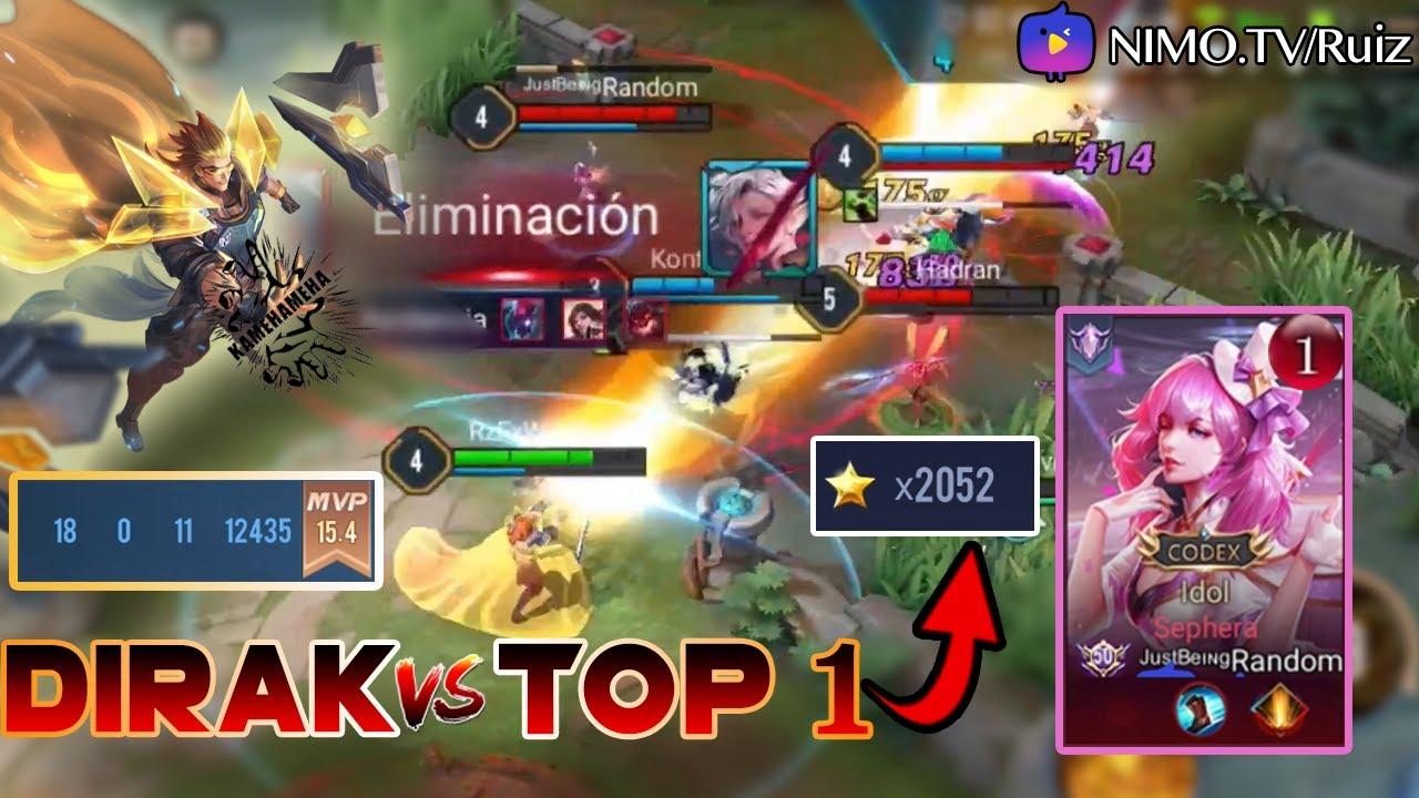 DIRAK | RUIZ VS EL TOP 1 DE EUROPA (2052 ESTRELLAS) | PARTIDA DE CONQUERORS | EPIC MATCH | RUIZ.