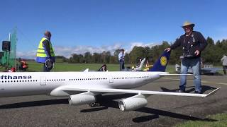 HAUSEN Airbus A340 and MD11 RC TURBINE MODEL AIRLINER