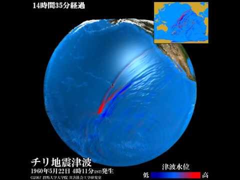 【過去の地震津波】チリ地震津波(1960年5月22日)