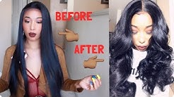 Curling My Synthetic Wig| Ft. FNH