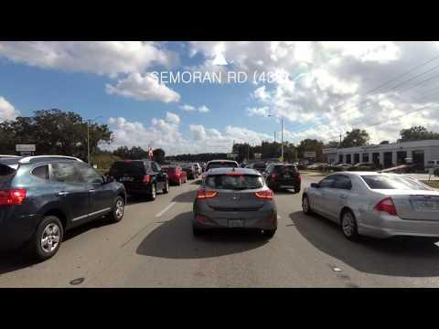 Drive up Semoran Blvd to I-4 Freeway in Altamonte Springs, Florida