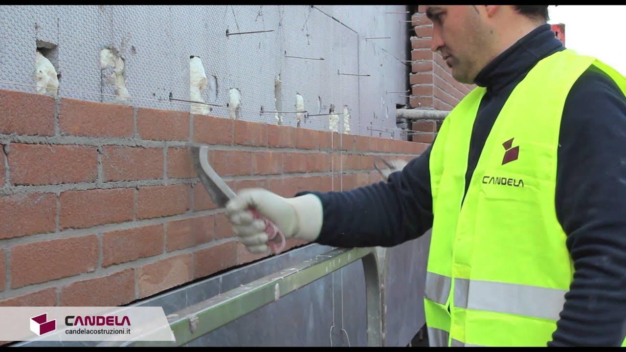 Finitura dei mattoni a vista costipazione stilatura e