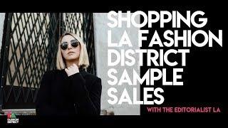 Shopping LA Fashion District Sample Sales