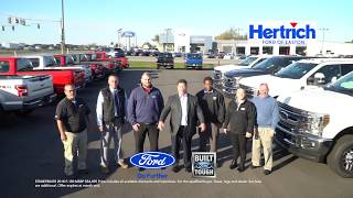 Save up to $15k on ford f-150 at hertrich of easton. november 2018 offer