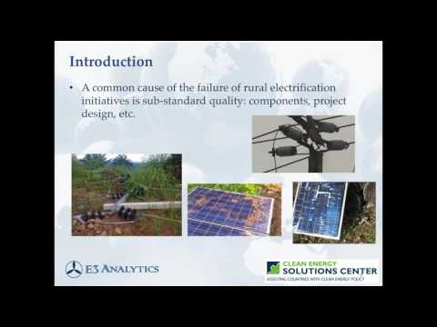 How to Maintain Quality Standards in Rural Electrification