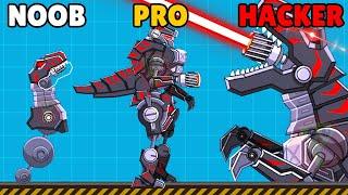 NOOB vs PRO vs HACKER in - Black T-Rex